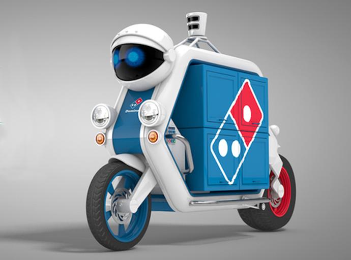 这个无人驾驶披萨送货车配备了加热车厢,它的容量是传统披萨外卖车的